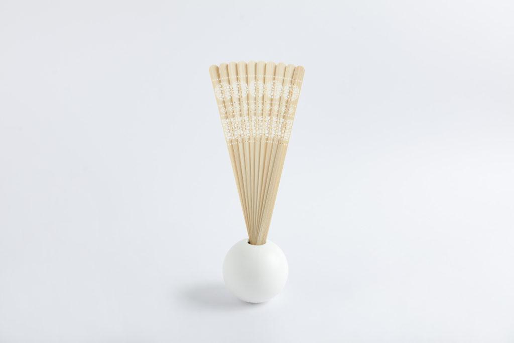 扇子型リードディフューザー 白